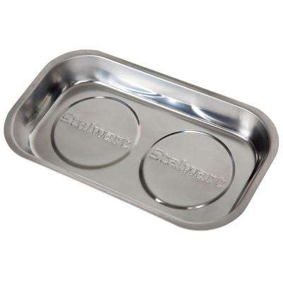 9 in. Stainless Steel Rectangular Magnetic Parts Tray
