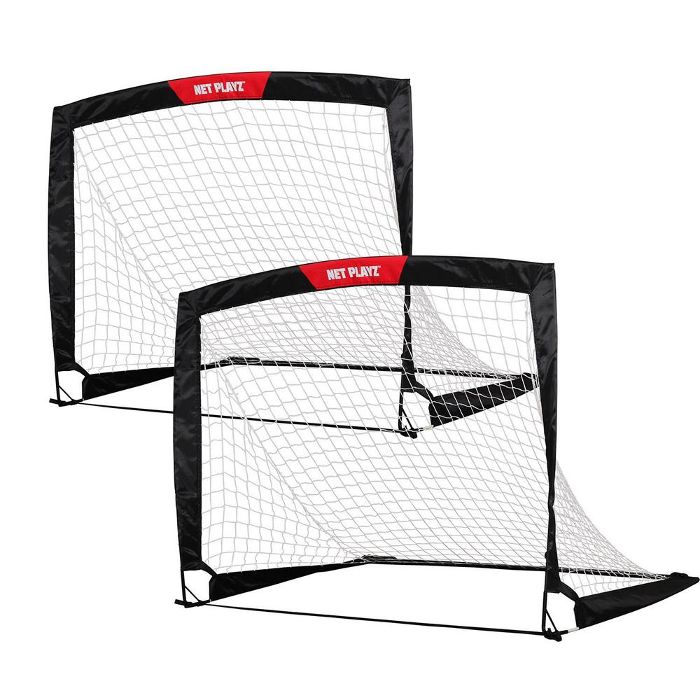 0a72fb8a7 Net Playz Soccer Goal 4 ft. x 3 ft. Easy Fold-Up Portable Training (Set of 2 )