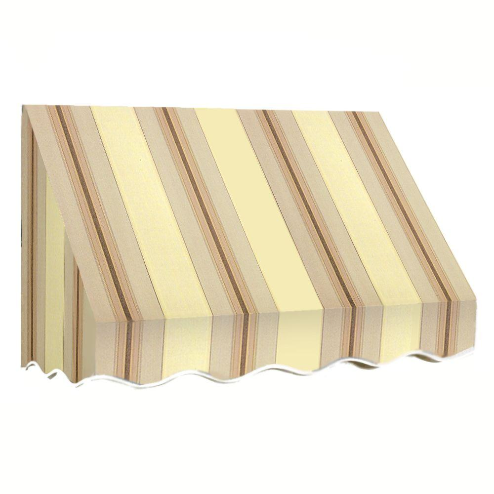 AWNTECH 5 ft. San Francisco Window Awning (44 in. H x 24 in. D) in Gray/Cream Stripe