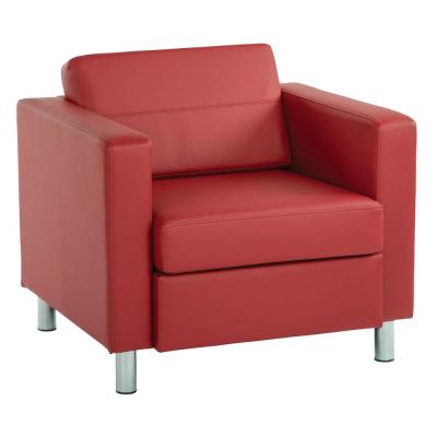 Pacific Red Vinyl Accent Chair