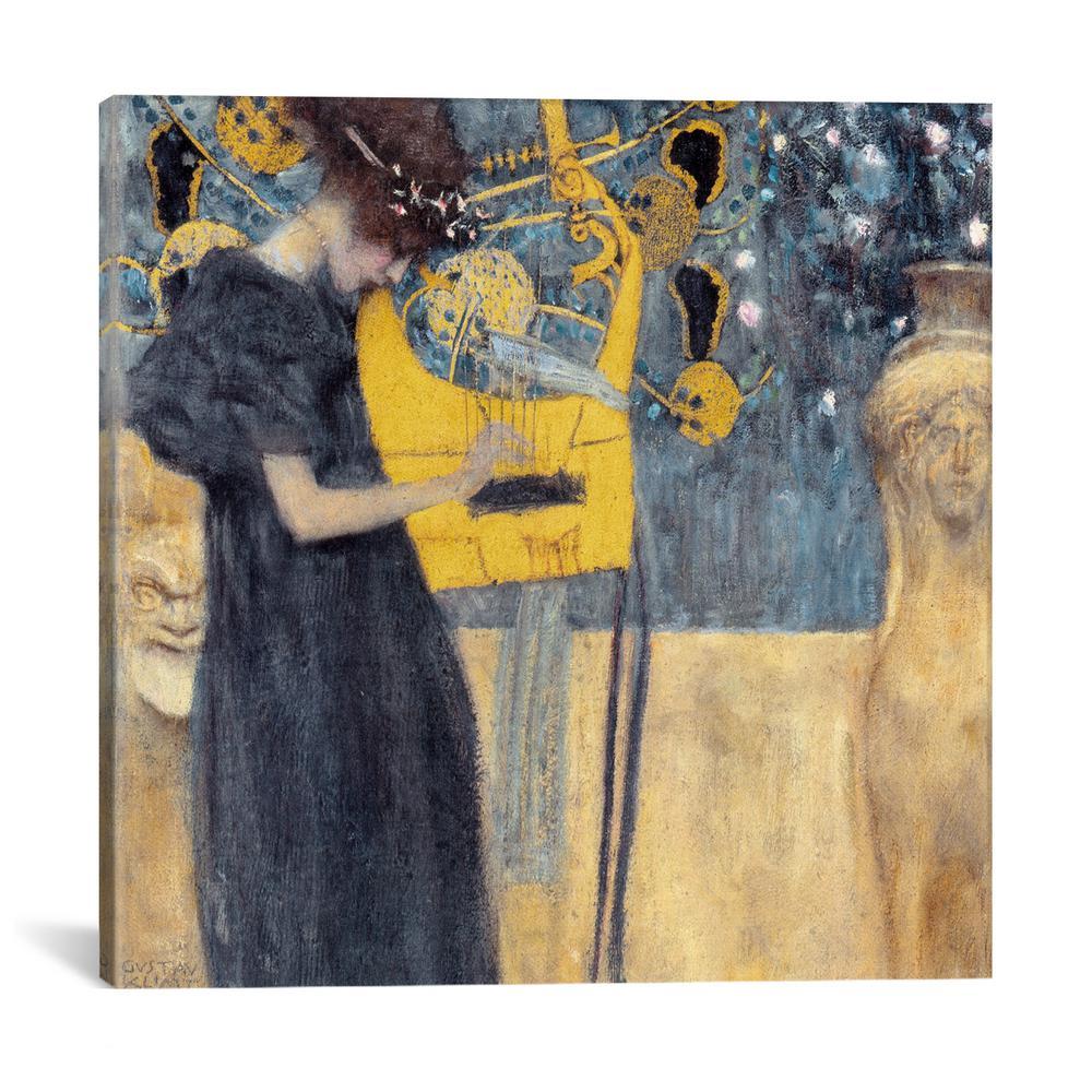 ''Musik 1895'' by Gustav Klimt Canvas Wall Art