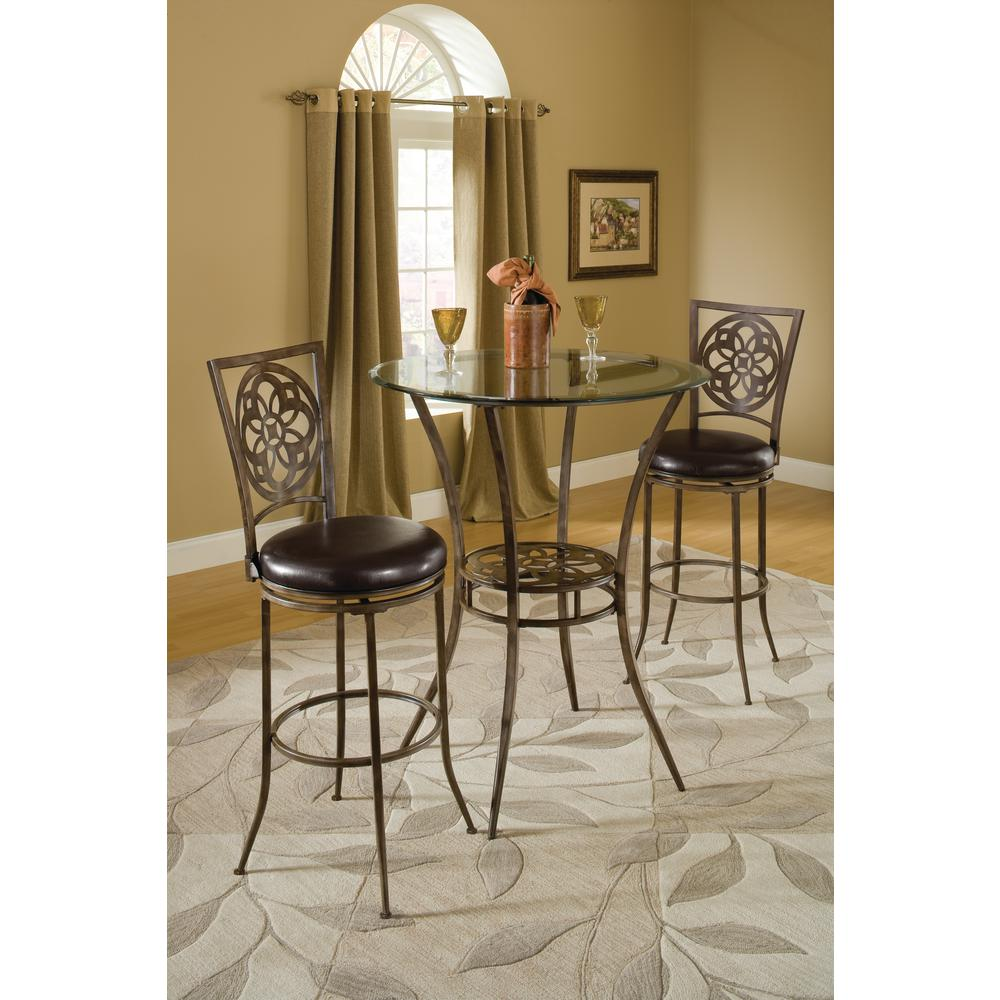 Marsala 26 in. Gray Swivel Cushioned Bar Stool