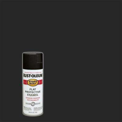 12 oz. Protective Enamel Flat Black Spray Paint