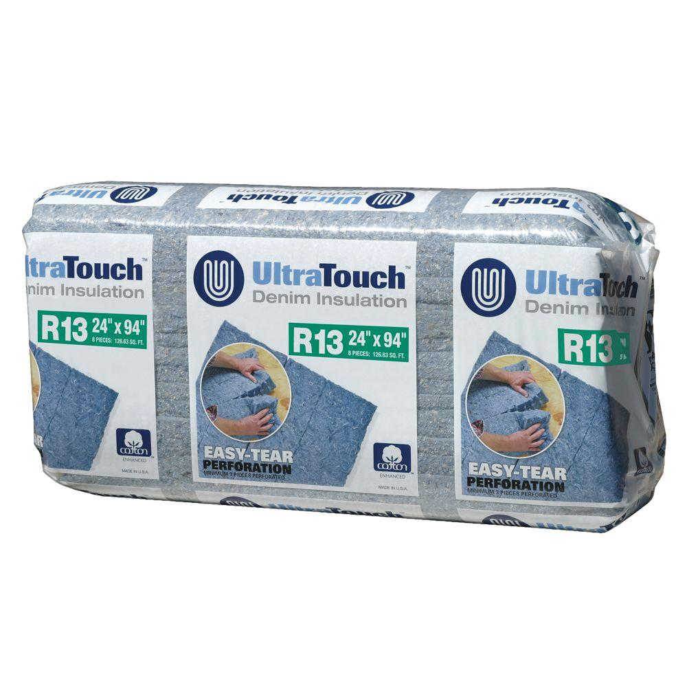 UltraTouch 24.25 in. x 94 in. R13 Denim Insulation (8-Bags)