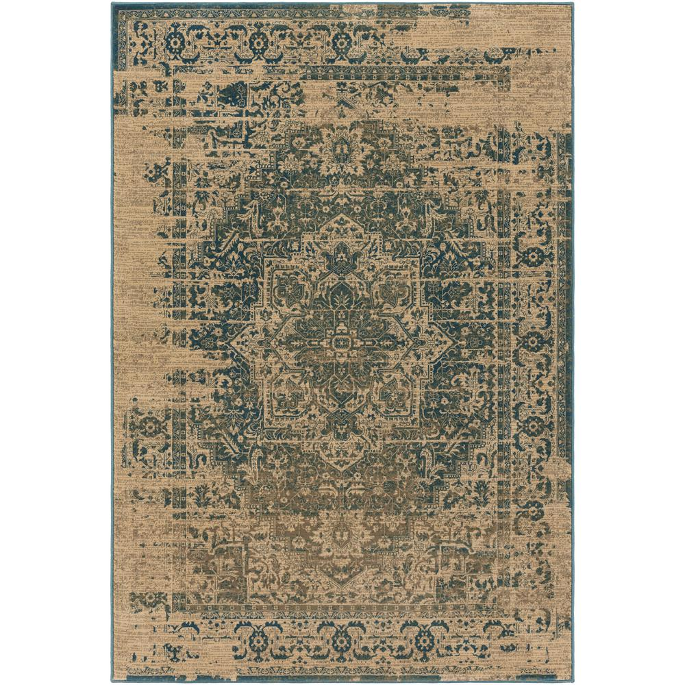 Melody Teal 3 ft. x 5 ft. Area Rug