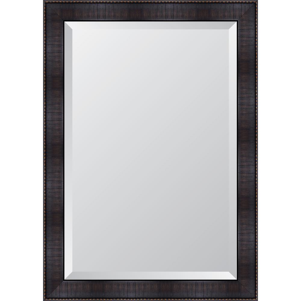 melissa van hise 30 in x 42 in framed 3 espresso resin frame mirror mir3172436 the home depot. Black Bedroom Furniture Sets. Home Design Ideas