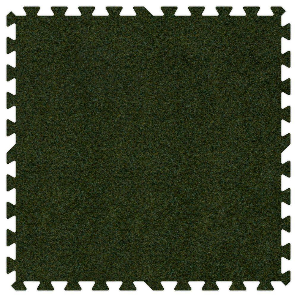 Grass Green 24 in. x 24 in. Comfortable Carpet Mat (100 sq. ft. / Case)