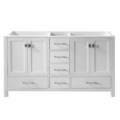 Caroline Avenue 60 in. W Bath Vanity Cabinet Only in White