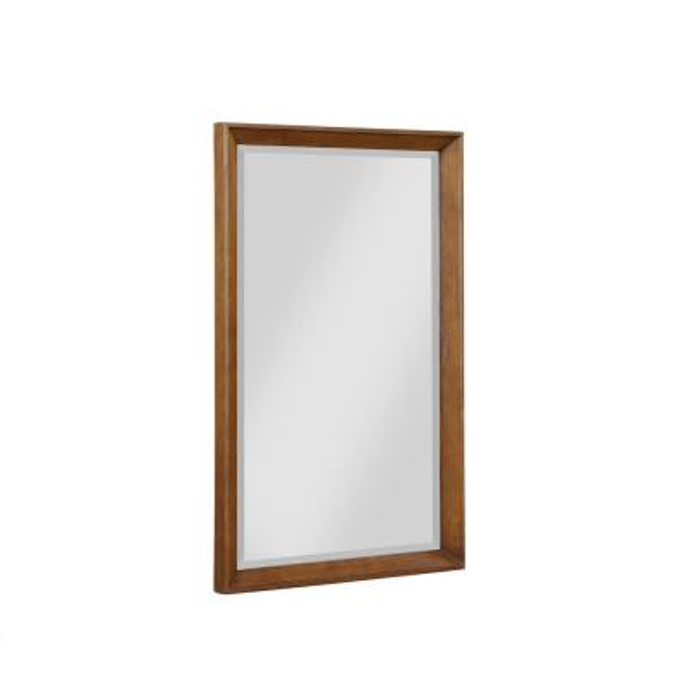 Jalila 24 in. W x 38 in. H Framed Rectangular Beveled Edge Bathroom Vanity Mirror in Chocolate