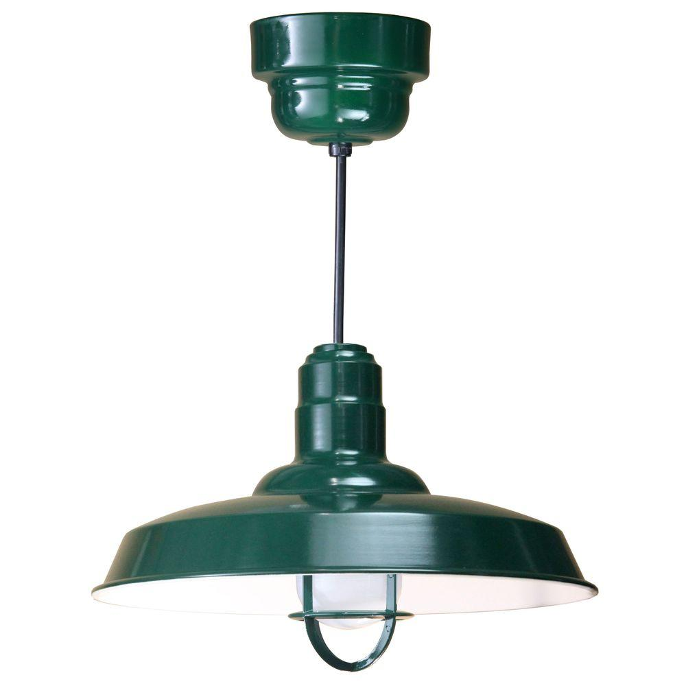 1 Light Ceiling Black Pendant