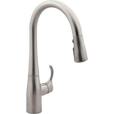 Simplice Single-Handle Pull-Down Sprayer Kitchen Faucet in Vibrant Stainless with DockNetik and Sweep Spray