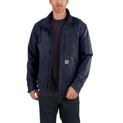 Men's 2X-Large Dark Navy FR Cotton/Nylon FR Full Swing Quick Duck Jacket
