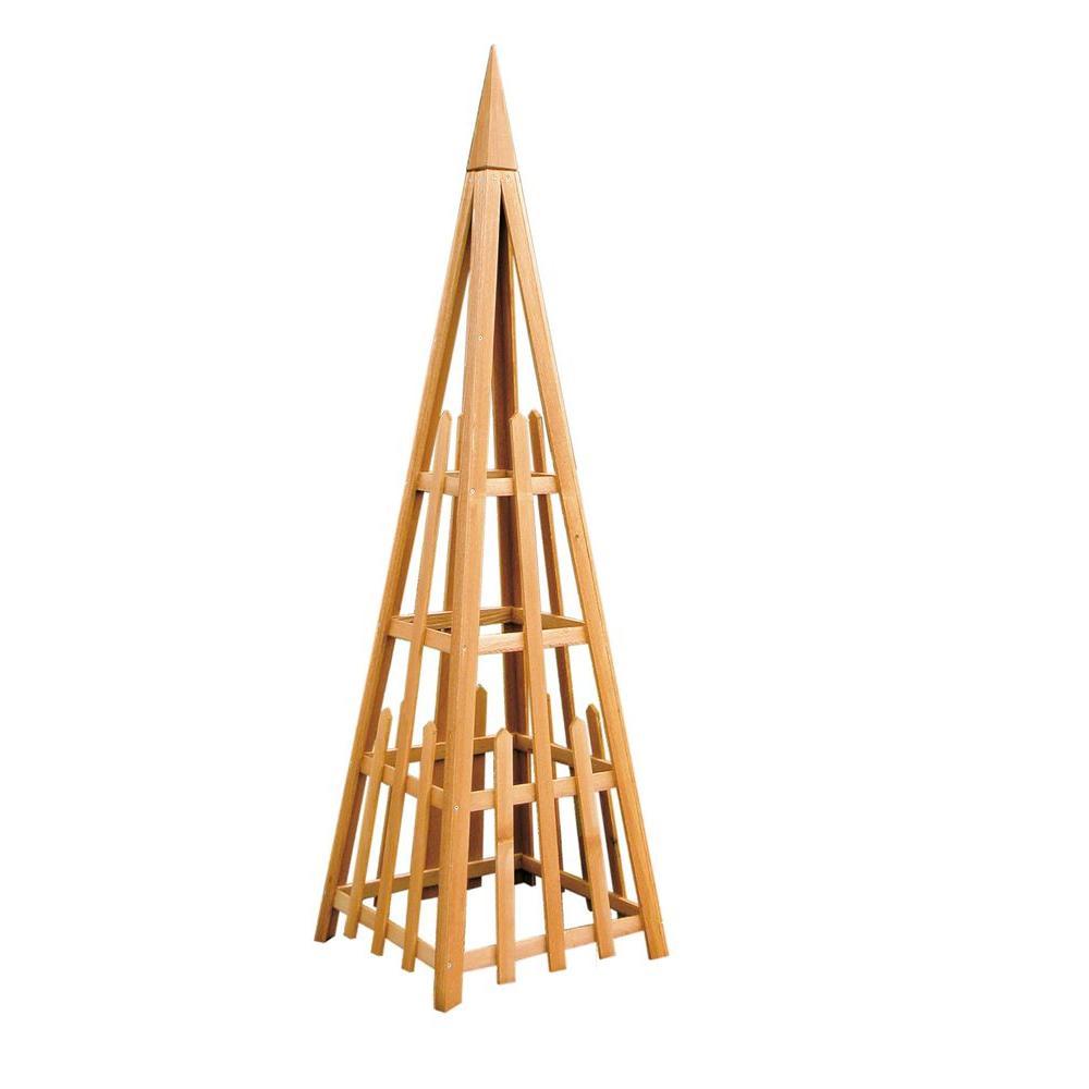 Arboria 81 in. Cedar Pyramid Trellis