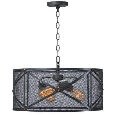 Alfred 3-Light Black Pendant