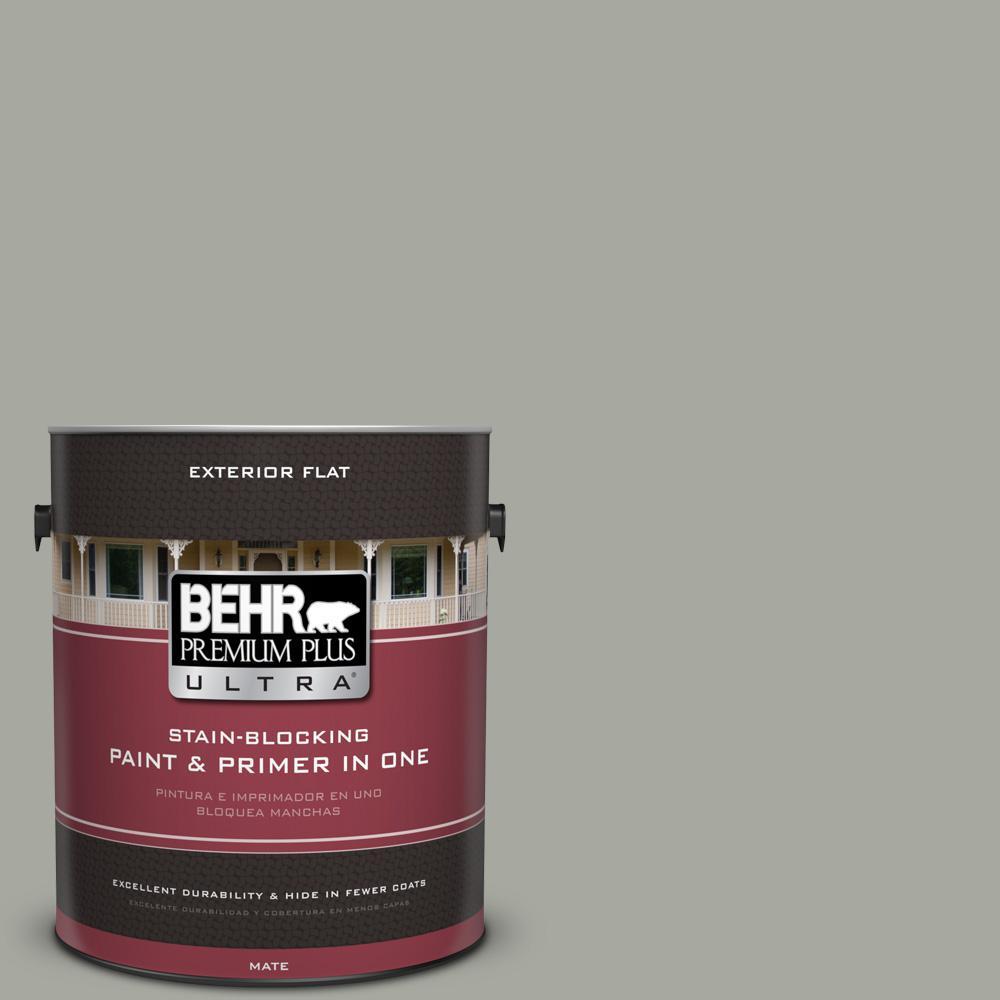 1 gal. #PPU25-05 Old Celadon Flat Exterior Paint