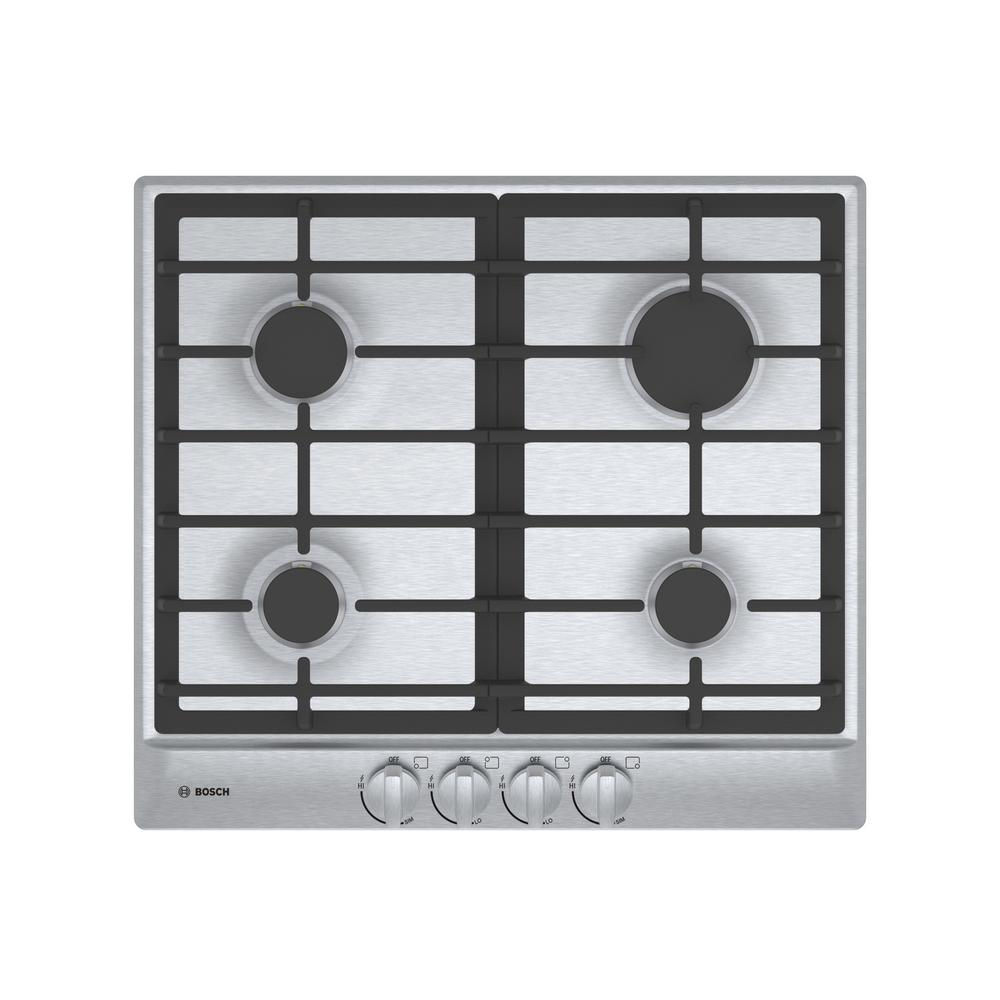 500 Series 24 in. Gas Cooktop in Stainless Steel with 4