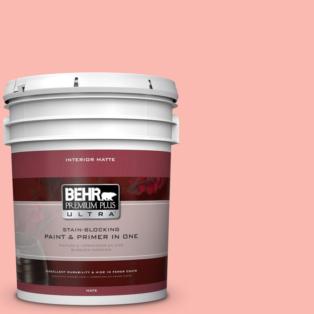BEHR Premium Plus Ultra 5 gal. #170A-3 Ruffles Flat/Matte Interior Paint