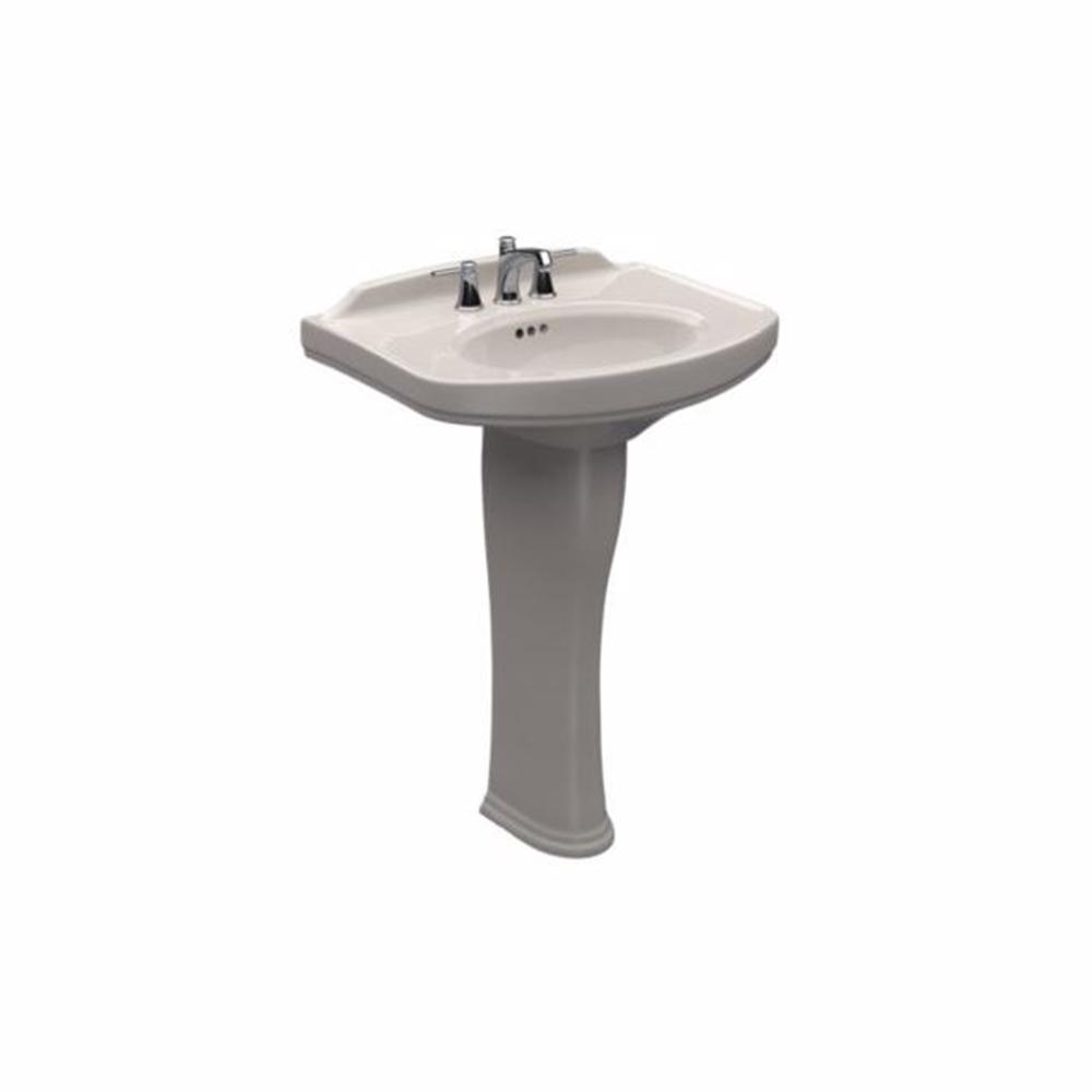 Toto Dartmouth 24 In Pedestal Combo Bathroom Sink With Single Faucet Hole In Sedona Beige
