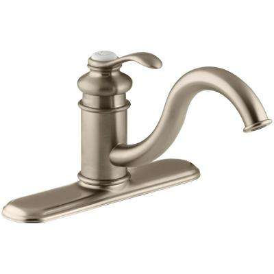 Fairfax Single-Handle Standard Kitchen Faucet in Vibrant Brushed Bronze