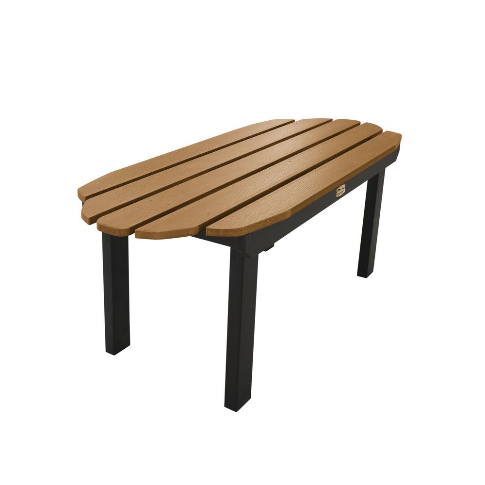 ELK OUTDOORS Essential Caribou Rectangular Recycled Plastic Outdoor Coffee Table