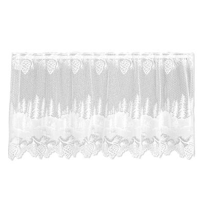 Pinecone 24 in. L Polyester Valance Tier in White