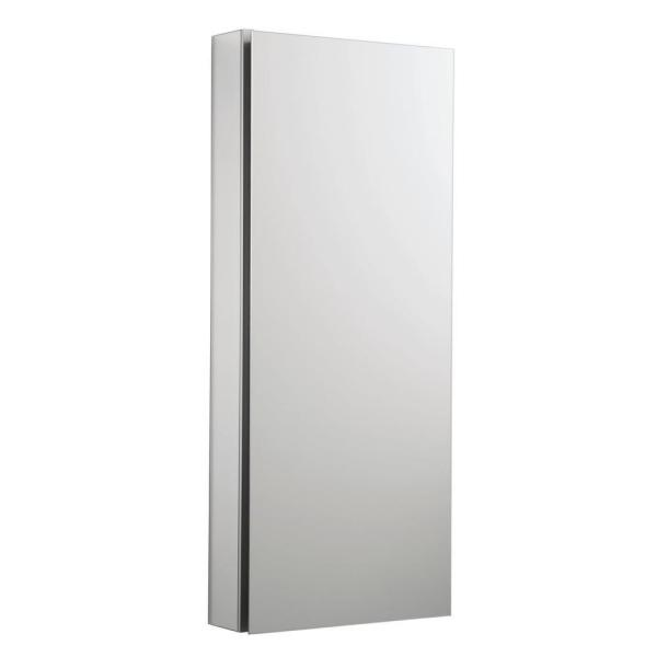 Catalan 15 in. W x 36 in. H Aluminum Single-Door Recessed or Surface Mount Medicine Cabinet