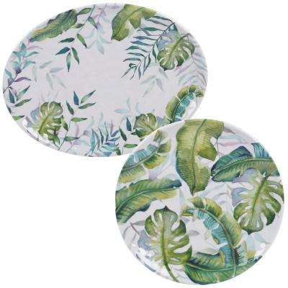 Tropicana 2-Piece Melanine Platter Set