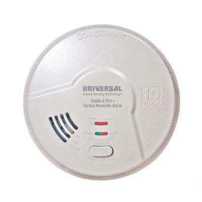 10 Year Sealed, Battery Operated, 3-In-1 Smoke, Fire And Carbon Monoxide Detector, Microprocessor Intelligence