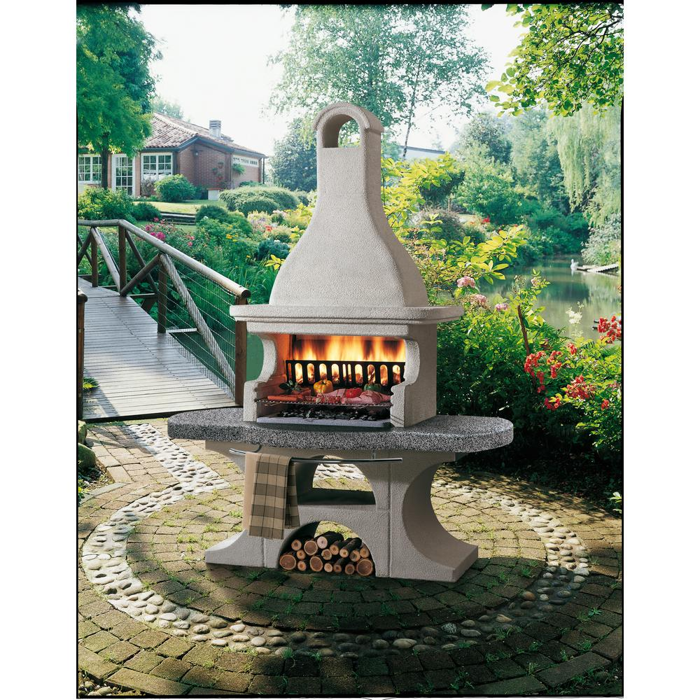 Palazzetti Newport 2 Charcoal or Wood Fire Outdoor Pedestal Grill in