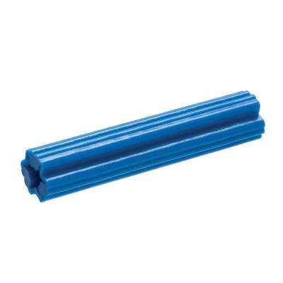 #12-14 x 1-1/2 in. Blue Plastic Plug (200-Pack)