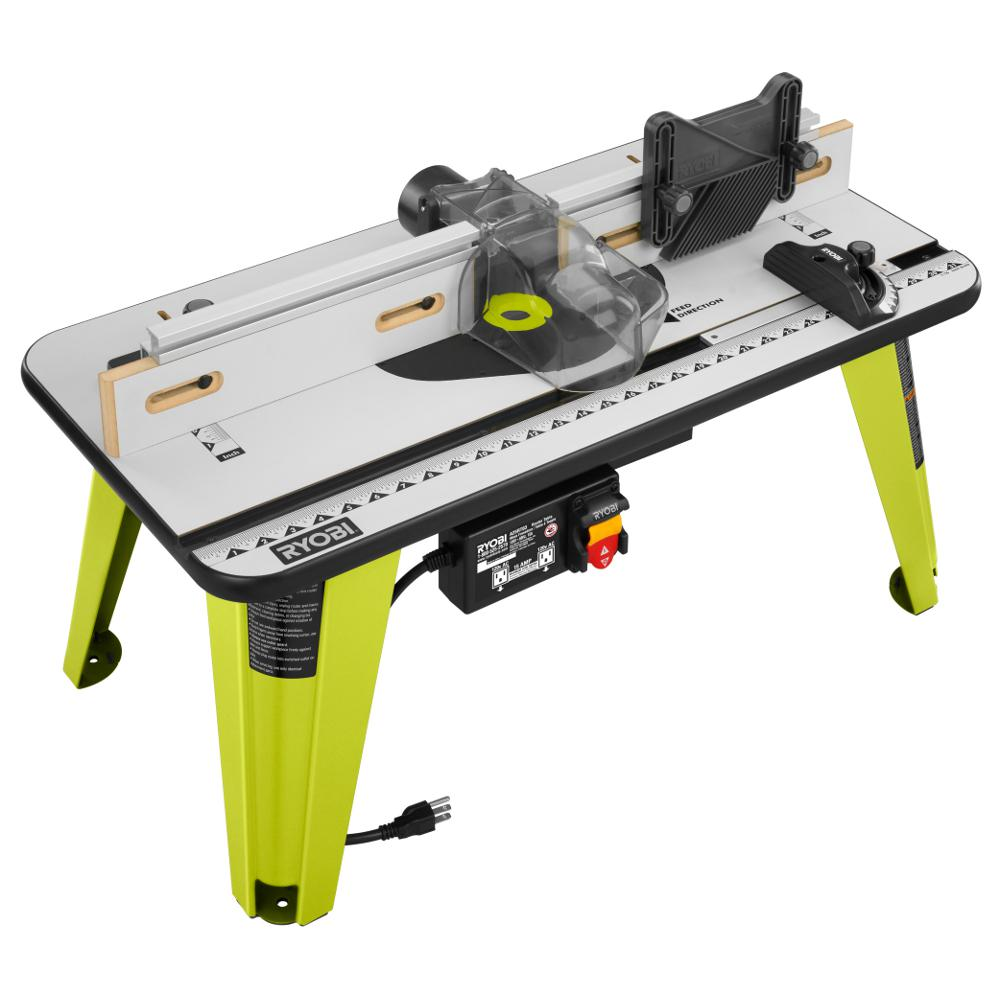 Ryobi universal router table a25rt03 the home depot for How to make a router table stand