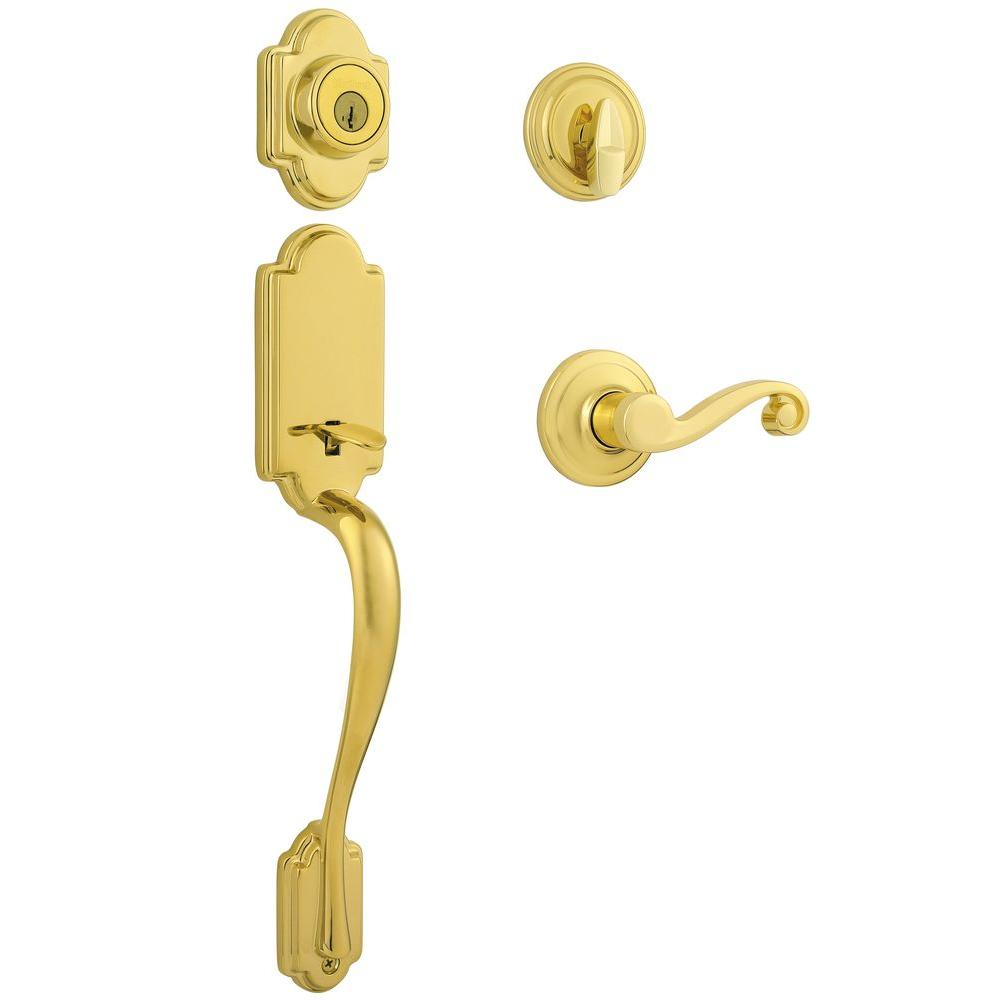 Kwikset Arlington Lifetime Polished Brass Single Cylinder
