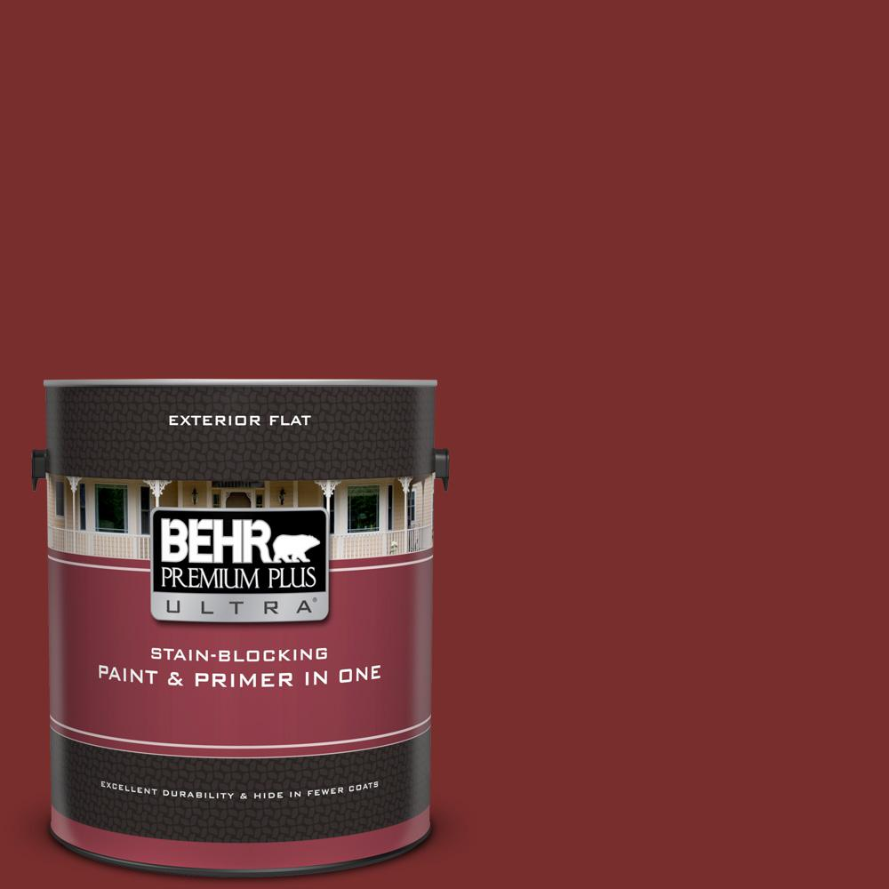 Ppu2 02 Red Pepper Flat Exterior Paint And Primer In One