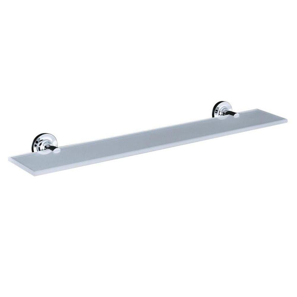 KOHLER Purist 4.875 in. W Wall-Mount Shelf in Glass and Polished ...