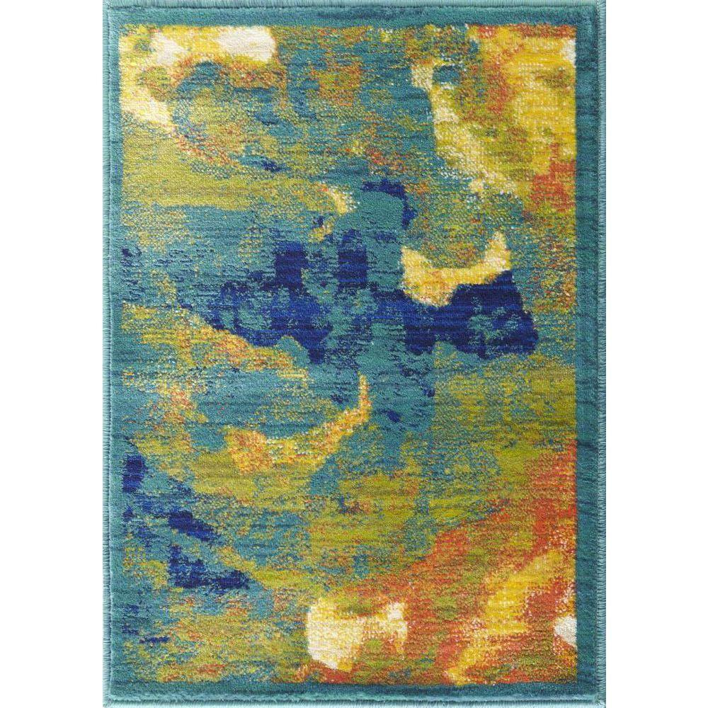 Loloi Rugs Lyon Lifestyle Collection Tropical Island 2 ft. x 3 ft. Accent Rug