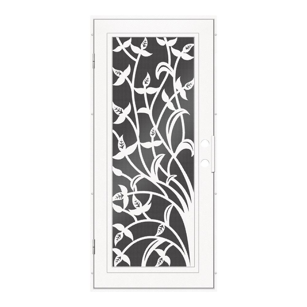 Unique Home Designs 36 in. x 80 in. Yale White Left-Hand Surface ...