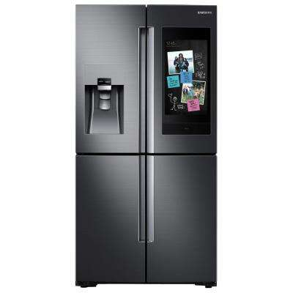 22 cu. ft. Family Hub 4-Door FrenchDoor Smart Refrigerator in Fingerprint Resistant Black Stainless, Counter Depth