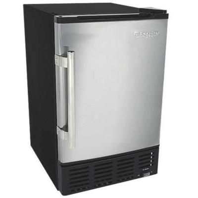 15 in. 12 lb. Built-In Ice Maker in Stainless Steel and Black