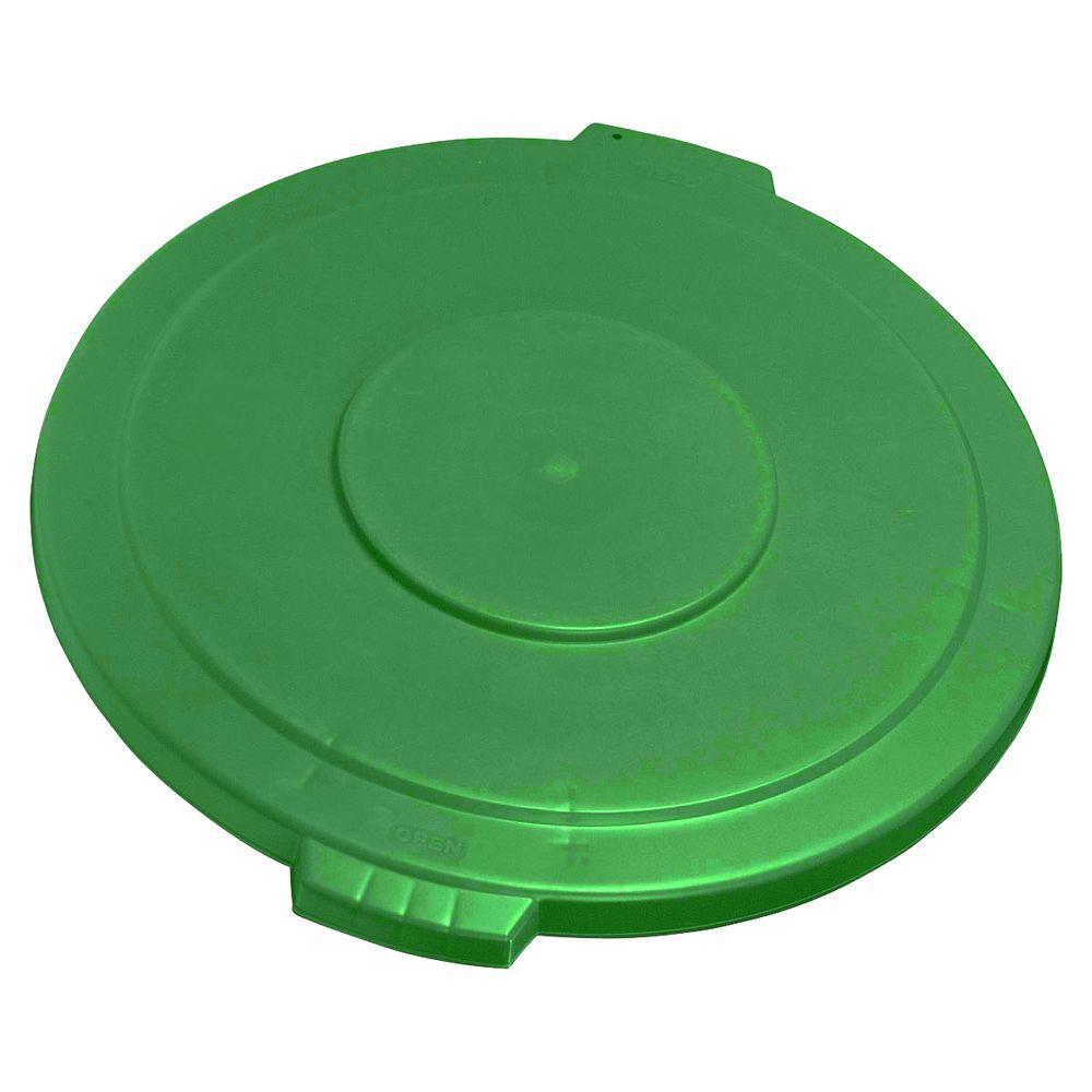 Carlisle Bronco 20 Gal. Green Round Trash Can Lid (6-Pack) by Carlisle