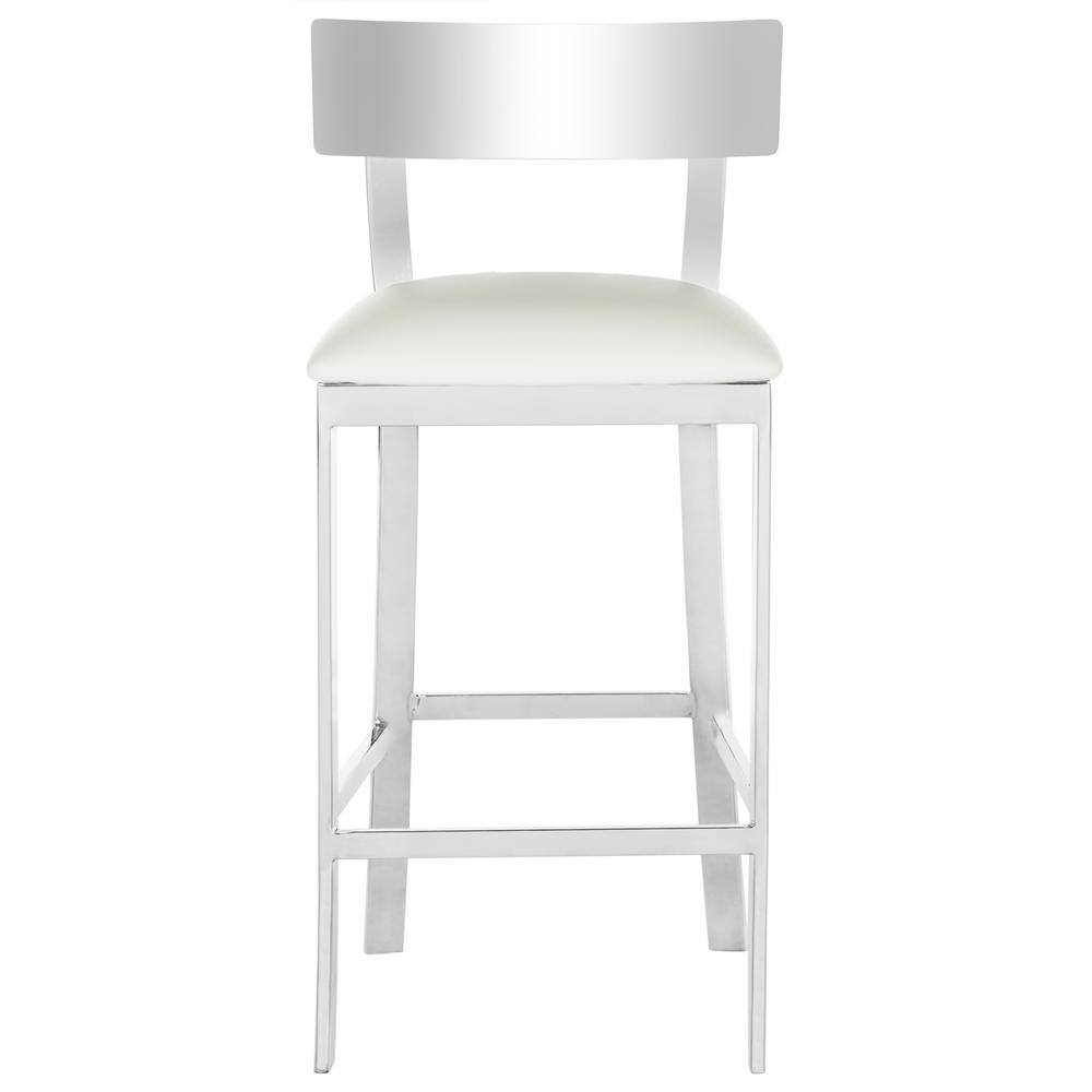 Exceptionnel Stainless Steel Counter Stool In White