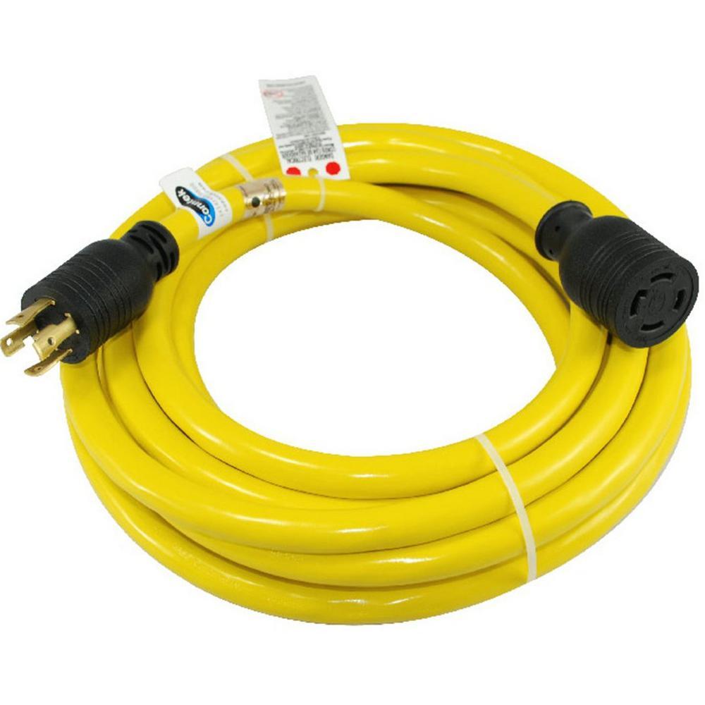 40 ft. 10/4 SJTW 30 Amp 125-Volt/250-Volt 4-Prong L14-30 Transfer Switch Cord/Generator Extension Cord