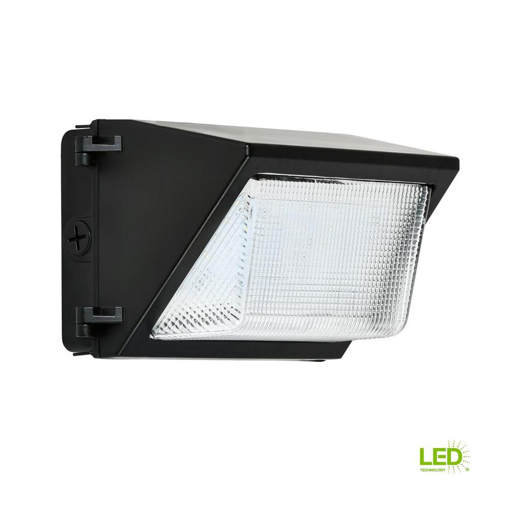 30-Watt Black Outdoor Integrated LED Rectangular Wall Pack Light