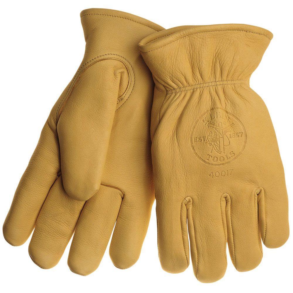 Deerskin Work Gloves - Lined - Large by