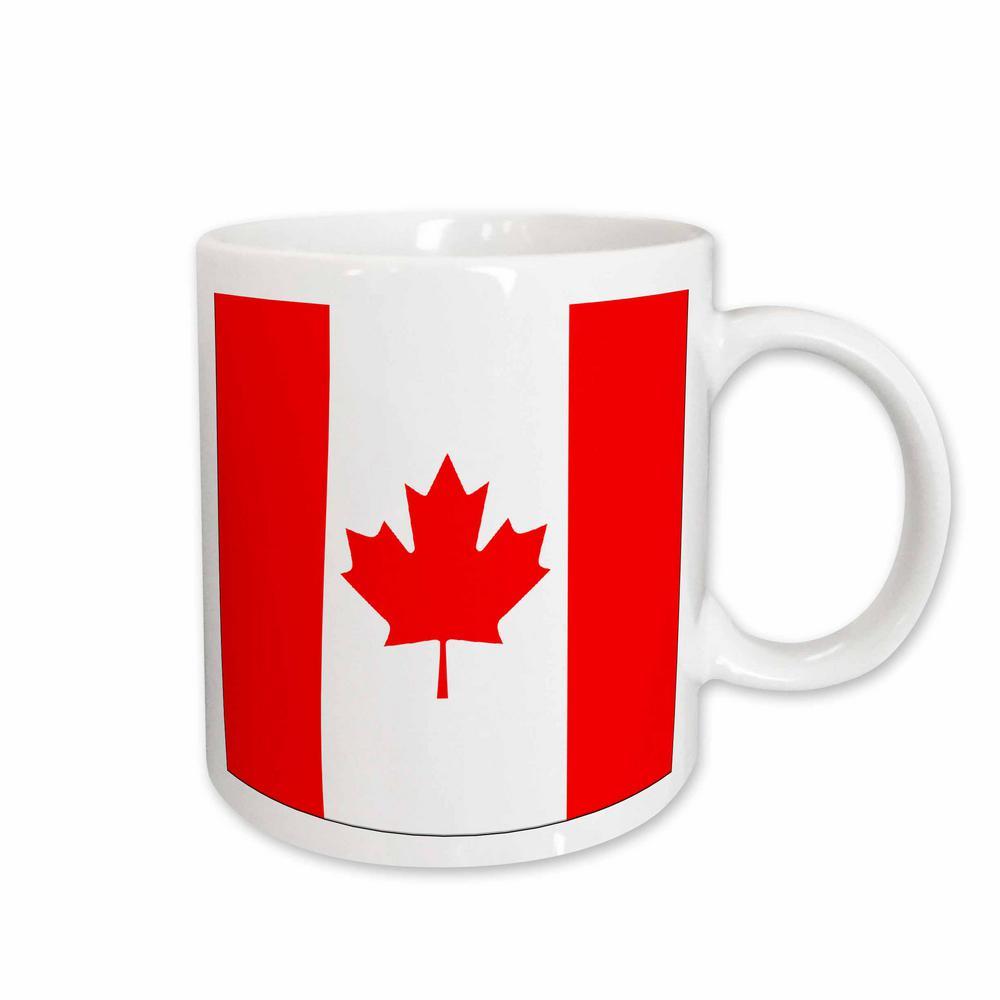 Flags 11 oz. White Ceramic Canadian Flag Mug