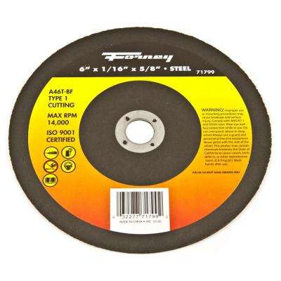 6 in. x 1/16 in. x 7/8 in. Metal Type 1 Cut-Off Wheel