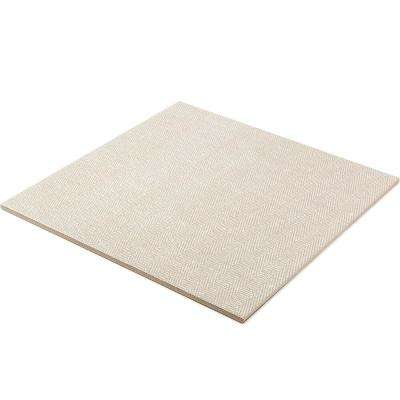 Vaugn Taupe 18 in. x 18 in. x 10mm Matte Fabric Look Porcelain Floor and Wall Tile (5-Piece/10.76 sq. ft./Box)