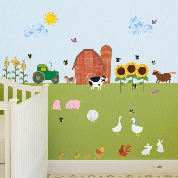 8 Baby Toy Animals Wall Stickers Decals Bedroom Animals Bed Time Cute Pastel