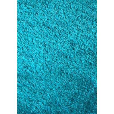 """""""Chubby Shaggy"""" Hand Tufted Area Rug in Turquoise (5-ft x 7-ft)"""