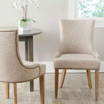 Lester Grey Polyester Blend Dining Chair (Set of 2)