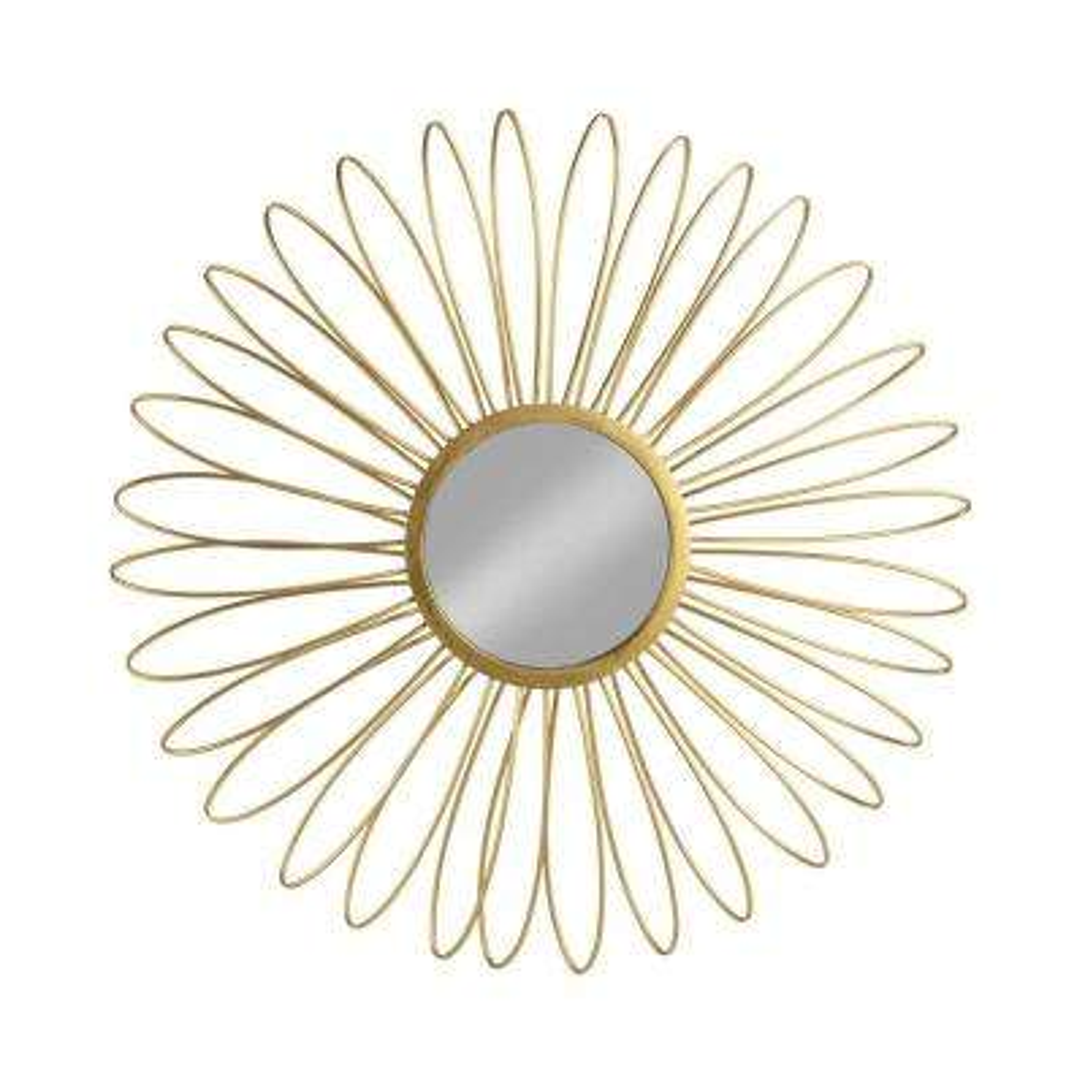 Medium Round Gold Classic Mirror (36.2 in. H x 36.2 in. W)